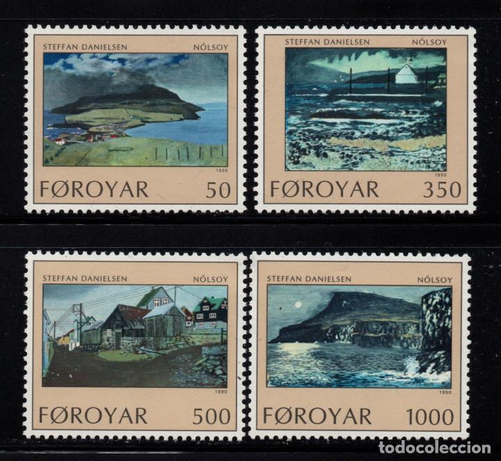 FEROE 201/04** - AÑO 1990 - PAISAJES - ISLA NOLSOY (Sellos - Extranjero - Europa - Islas Feroe)