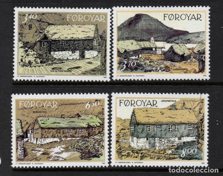 FEROE 233/36** - AÑO 1992 - EDIFICIOS ANTIGUOS DE NORDRAGOTA (Sellos - Extranjero - Europa - Islas Feroe)