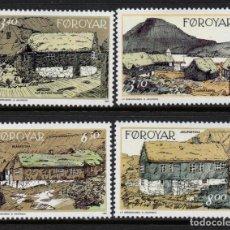 Sellos: FEROE 233/36** - AÑO 1992 - EDIFICIOS ANTIGUOS DE NORDRAGOTA. Lote 261612495