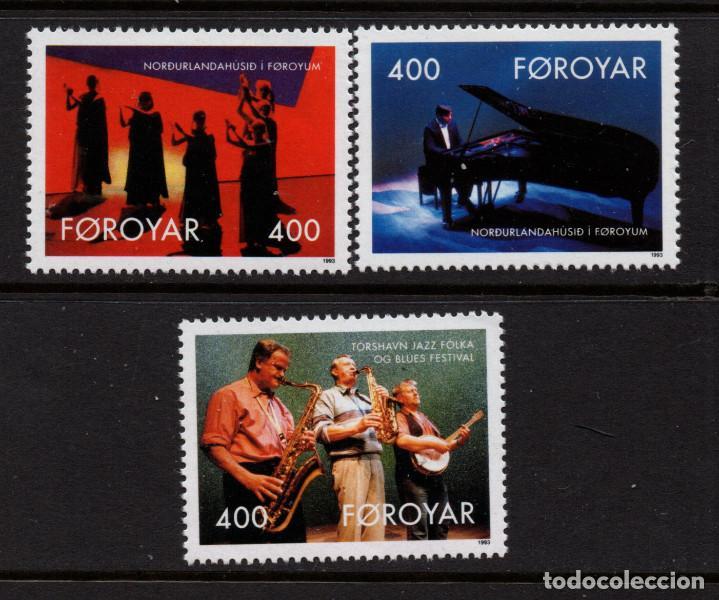FEROE 237/39** - AÑO 1993 - 10º ANIVERSARIO DE LA MANSION NORDICA DE TORSHAVN (Sellos - Extranjero - Europa - Islas Feroe)