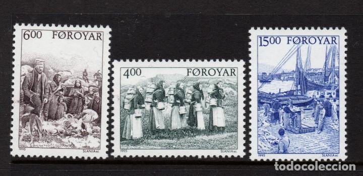 FEROE 282/84** - AÑO 1995 - ESCENAS ANTIGUAS DE LA VIDA EN LAS FEROE (Sellos - Extranjero - Europa - Islas Feroe)