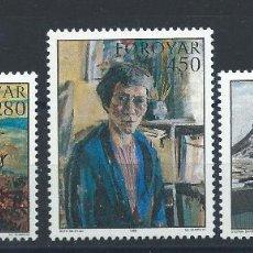 Sellos: FÉROÉ N°112/14** (MNH) 1985 - TABLEAUX D'ARTISTES FÉROÏENS. Lote 265721004