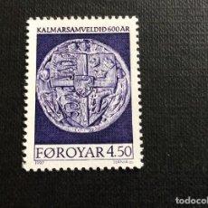 Sellos: FEROE Nº YVERT 315*** .AÑO 1997. 600 ANIVERSARIO DE LA UNION DE KALMAR, DINAMARCA,NORUEGA Y SUECIA. Lote 270186238