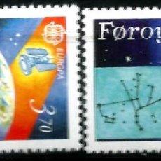 Sellos: EUROPA C.E.P.T. 1991 - EUROPA Y EL ESPACIO - ISLAS FEROE. Lote 275622863