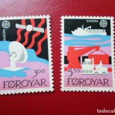Sellos: *ISLAS FEROE, 1988, EUROPA, TRANSPORTE Y COMUNICACION, YVERT 160/1. Lote 285559488