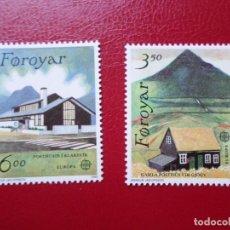 Sellos: *ISLAS FEROE, 1990, EUROPA, YVERT 192/3. Lote 285559743