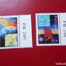 Sellos: *ISLAS FEROE, 1991, EUROPA, EUROPA Y EL ESPACIO, YVERT 211/12. Lote 285559863