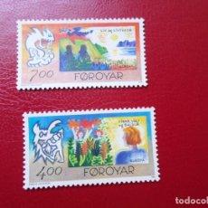 Sellos: *ISLAS FEROE, 1995, EUROPA,PAZ Y LIBERTAD, YVERT 272/3. Lote 285560133