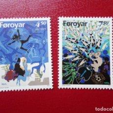 Sellos: *ISLAS FEROE, 1997, EUROPA, CUENTOS Y LEYENDAS, YVERT 313/14. Lote 285560293