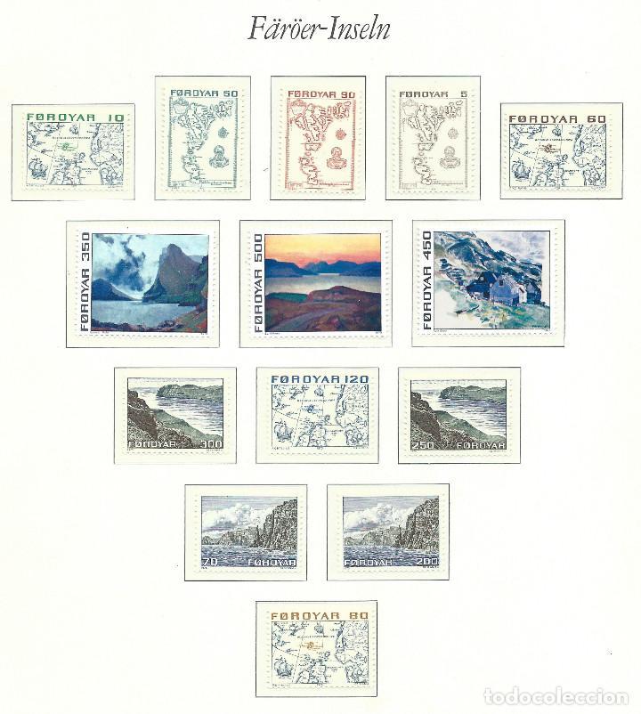 "FÉROÉ N°1/14** (MNH) 1975 - SÉRIE COURANTE ""TABLEAUX ET CARTES"" (Sellos - Extranjero - Europa - Islas Feroe)"