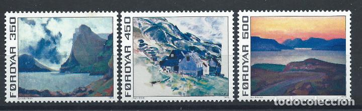 FÉROÉ N°12/14** (MNH) 1975 - TABLEAUX (Sellos - Extranjero - Europa - Islas Feroe)