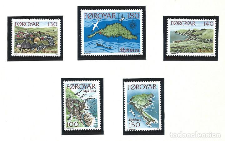 FÉROÉ N°25/29** (MNH) 1978 - ILES DE MYKINES (Sellos - Extranjero - Europa - Islas Feroe)