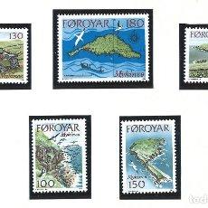 Sellos: FÉROÉ N°25/29** (MNH) 1978 - ILES DE MYKINES. Lote 287068078