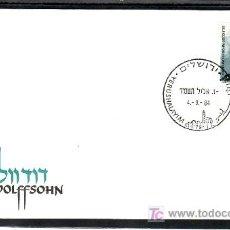 Sellos: ISRAEL 918 PRIMER DIA CON BANDELETA, HOMENAJE PRECURSORES DEL SIONISMO, DAVID WOLFFSOHN, . Lote 7702536