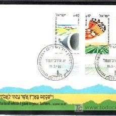 Sellos: ISRAEL 898/900 PRIMER DIA CON BANDELETA, POBLACION DE LAS REGIONES,. Lote 7702793