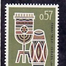 Sellos: ISRAEL 267 BANDELETA, CON CHARNELA, MUSICA, EXPOSICION FILATELICA NACIONAL TABAI DEDICADA A AFRICA,. Lote 7822782