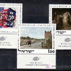 Sellos: ISRAEL 426/8 BANDELETA, SIN CHARNELA, PINTURAS DEL MUSEO DE TEL-AVIV, . Lote 7798365