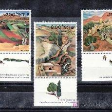 Sellos: ISRAEL 822/4 BANDELETA, SIN CHARNELA, ARTE, PINTURAS MUSEO TEL-AVIV,. Lote 8127107