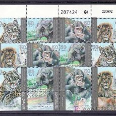 Sellos: ISRAEL 1185/8 MINIPLIEGO, BANDELETA, SIN CHARNELA, FAUNA, ANIMALES DE ZOO, . Lote 12009167