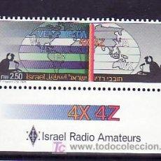 Sellos: ISRAEL 1006, BANDELETA, SIN CHARNELA, RADIO, MAPA, ASOCIACION ISRAELI DE RADIO AMATER, . Lote 8118175