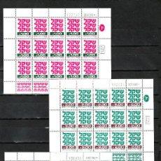 Sellos: ISRAEL 771/6, 778/84 MINIPLIEGO BANDELETA SIN CHARNELA, . Lote 10792908