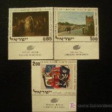 Sellos: ISRAEL 1970 IVERT 426/8 *** OBRAS DEL MUSEO DE TEL AVIV - PINTURA. Lote 22154999