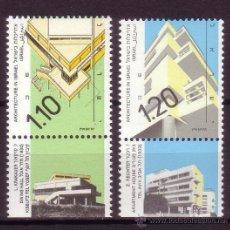 Sellos: ISRAEL 1118/19*** - AÑO 1990 - ARQUITECTURA ISRAELÍ. Lote 25540856