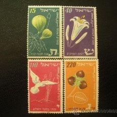Sellos: ISRAEL 1952 IVERT 58/61 * AÑO NUEVO . Lote 27241896