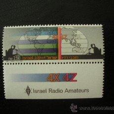 Sellos: ISRAEL 1987 IVERT 1006 *** RADIOAFICIONADOS - COMUNICACIONES. Lote 27739496