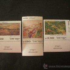 Sellos: ISRAEL 1981 IVERT 786/8 *** PINTURAS DE PAISAJES DE JERUSALEN. Lote 31593680