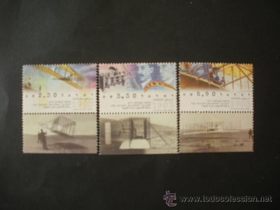ISRAEL 2003 IVERT 1648/50 *** CENTENARIO PRIMEROS VUELOS EN AEROPLANO - AVIONES (Sellos - Extranjero - Asia - Israel)