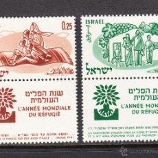 Sellos: ISRAEL 174/75** - AÑO 1960 - AÑO MUNDIAL DEL REFUGIADO. Lote 114957815