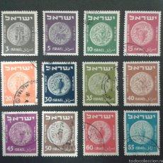 Sellos: SELLOS DE ISRAEL. YVERT 37/42B. SERIE COMPLETA USADA. SIN TAB.. Lote 55129452