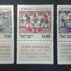 Sellos: SELLOS DE ISRAEL. YVERT 481/3. SERIE COMPLETA NUEVA SIN CHARNELA. CON TAB.. Lote 55129651