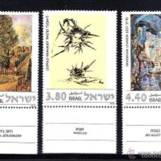 Sellos: ISRAEL 1978 IVERT 675/7 *** PINTURA - PAISAJES DE ISRAEL. Lote 55708550