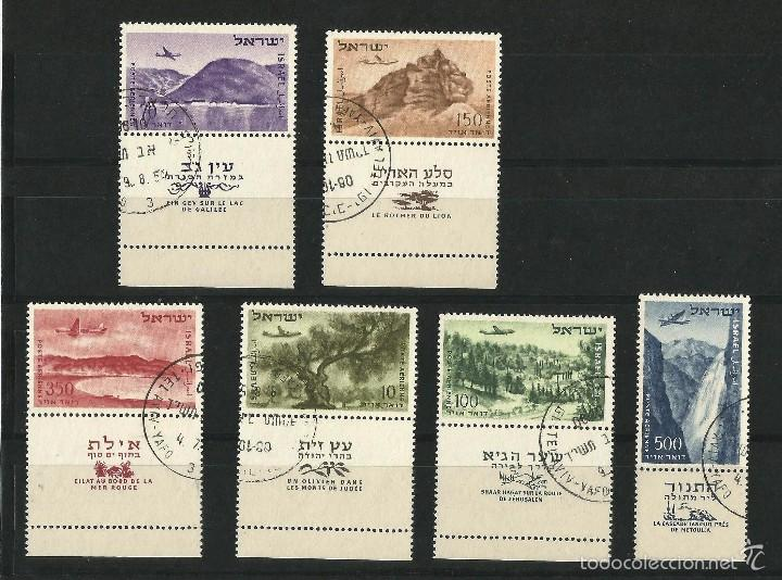 ISRAEL 1953-56 CORREO AEREO SERIE CORTA (Sellos - Extranjero - Asia - Israel)