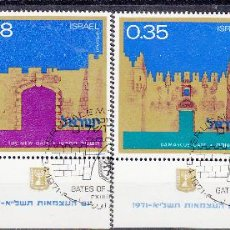 Sellos: ISRAEL. YVERT 437/40 USADOS CON BANDELETA COMPLETA. . Lote 62984252