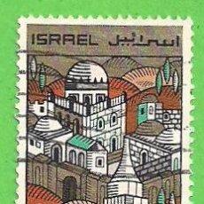 Selos: ISRAEL - MICHEL 425 - YVERT 363 - AÑO NUEVO JUDIO DE 5721 - VISTAS DE JERUSALÉN. (1968). Lote 68727305
