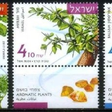 Sellos: ISRAEL 2017 PLANTAS AROMATICAS FLORES FRUTOS. Lote 91645560