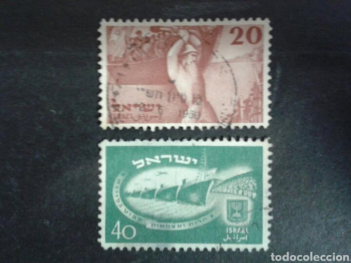 ISRAEL. YVERT 29/30. SERIE SIN TAB. COMPLETA USADA. (Sellos - Extranjero - Asia - Israel)