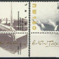 Sellos: ISRAEL 1986 IVERT 992/3 *** 50º ANIVERSARIO DE LA ORQUESTA FILARMÓNICA DE ISRAEL - MÚSICA. Lote 111157743