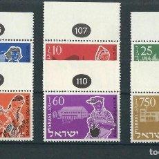 Sellos: SELLOS ISRAEL 1955** Y&T 86/91 20 ANIVERSARIO DE LA JEUNE ALIYAH. Lote 112502603