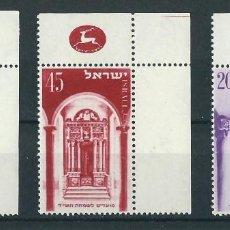 Sellos: SELLOS ISRAEL 1953** Y&T 68/70 AÑO NUEVO. Lote 112503159
