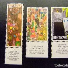Sellos: ISRAEL 1972 DIBUJOS INFANTILES YVERT Nº 507 / 509 ** MNH. Lote 117401291