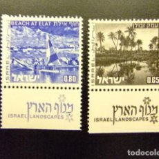 Sellos: ISRAEL 1972 PLAYA DE EILAT PLAINE DE ZÉBULON YVERT 535 / 536 ** MNH . Lote 117401503