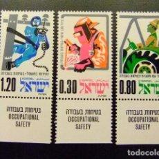 Sellos: ISRAEL 1975 SEGURIDAD EN EL TRABAJO YVERT 563 / 65 ** MNH. Lote 117493467
