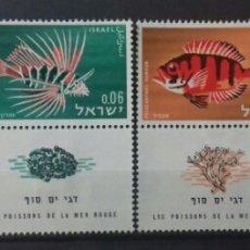 Sellos: SELLOS DE ISRAEL PECES DEL MAR ROJO 1963. Lote 123082135