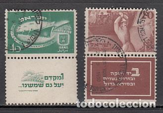 ISRAEL - CORREO 1950 YVERT 29/30 O (Sellos - Extranjero - Asia - Israel)