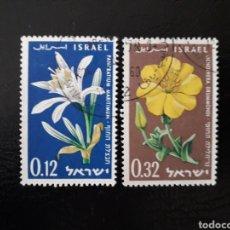 Stamps - ISRAEL. YVERT 176/7 SIN TAB. SERIE COMPLETA USADA. FLORA. FLORES. - 160068621