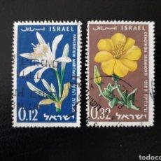 Stamps - ISRAEL. YVERT 176/7 SIN TAB. SERIE COMPLETA USADA. FLORA. FLORES. - 160068724